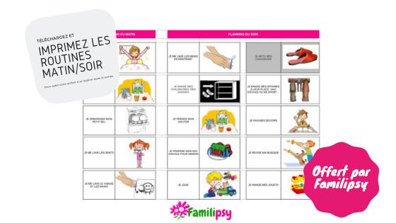 routines télécharger PDF imprimer sommeil discipline bienveillante parentalité