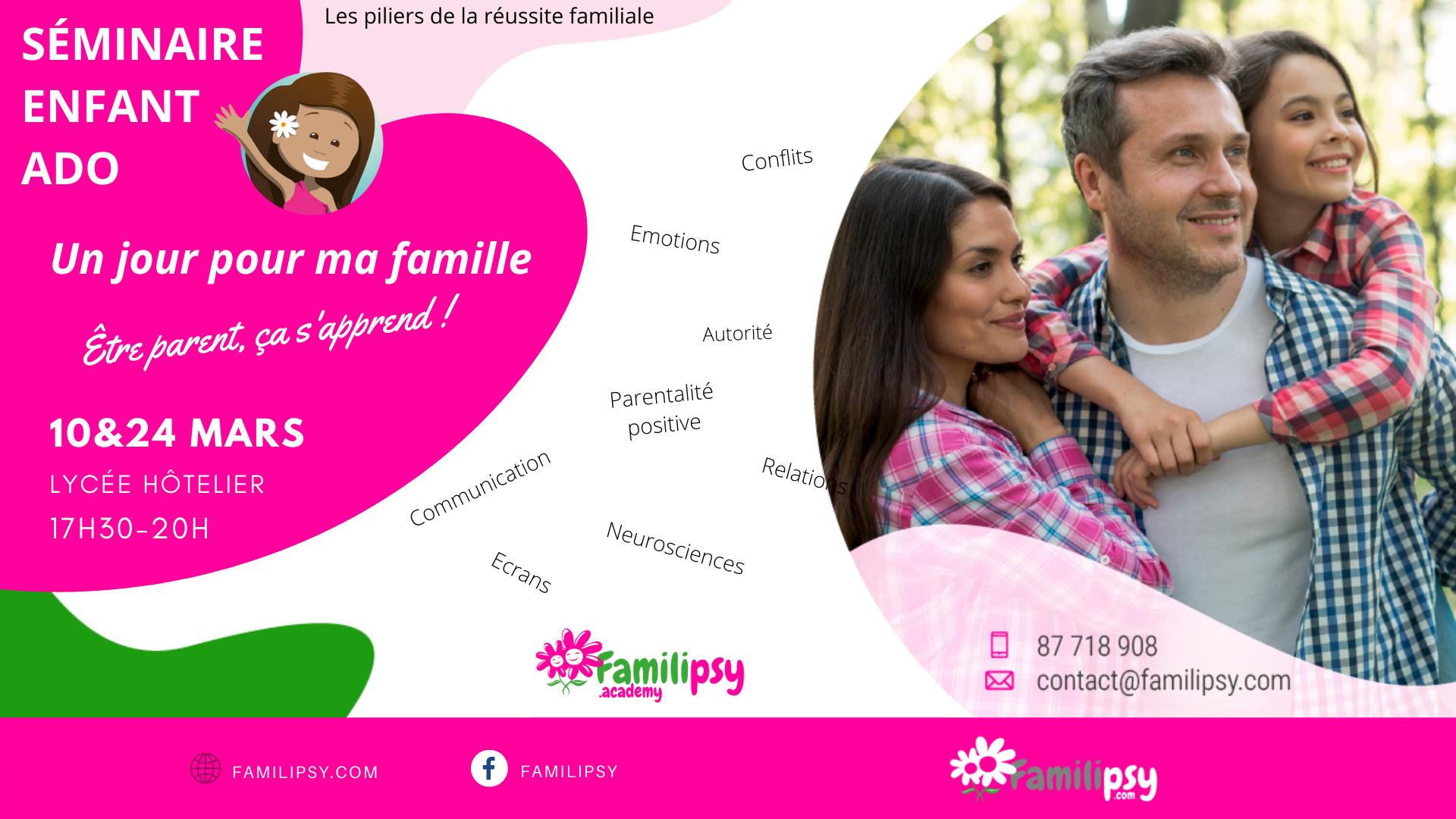 """Séminaire """"Un jour pour ma famille"""" à Tahiti"""