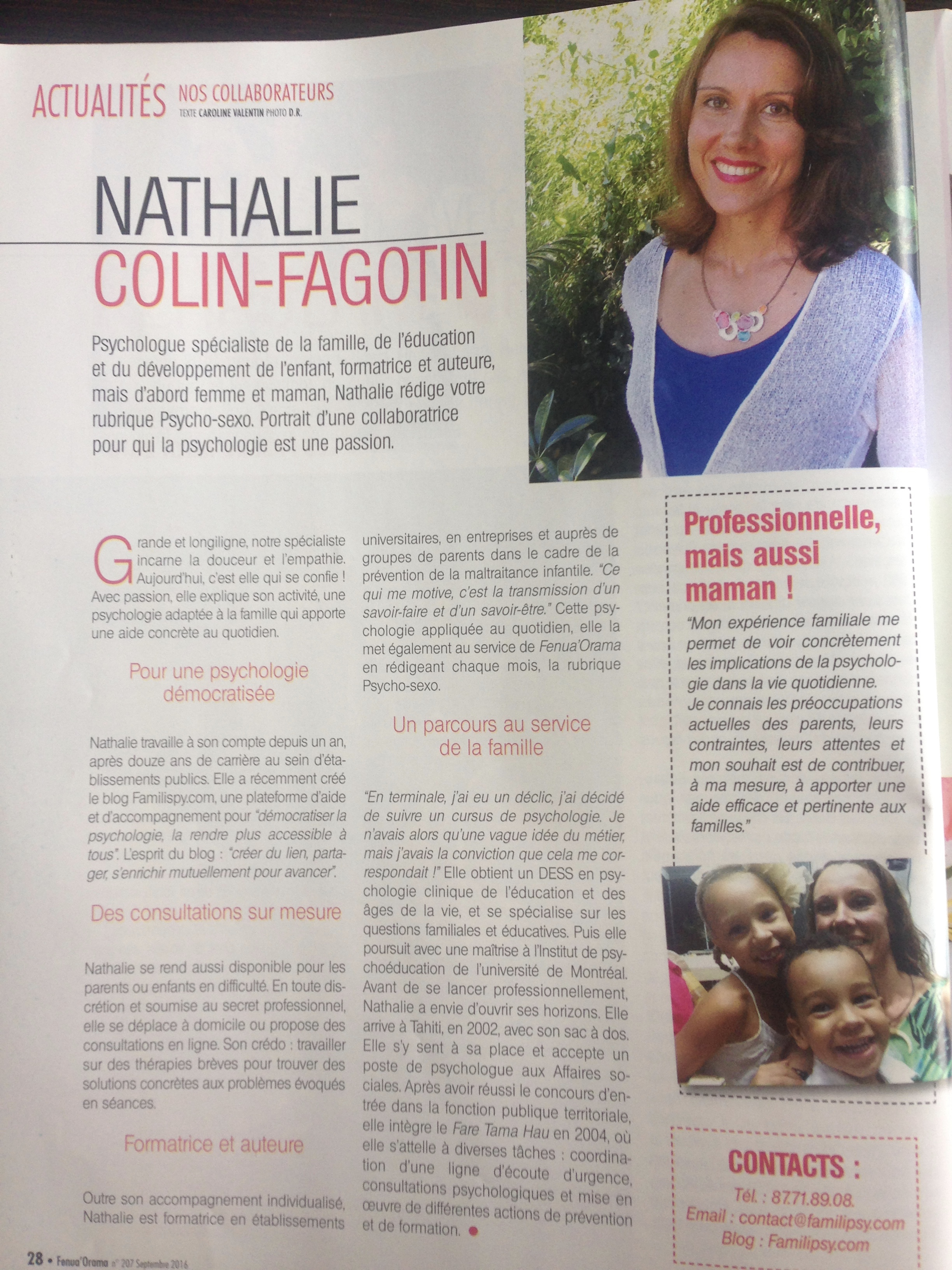 portrait Nathalie Colin Fagotin