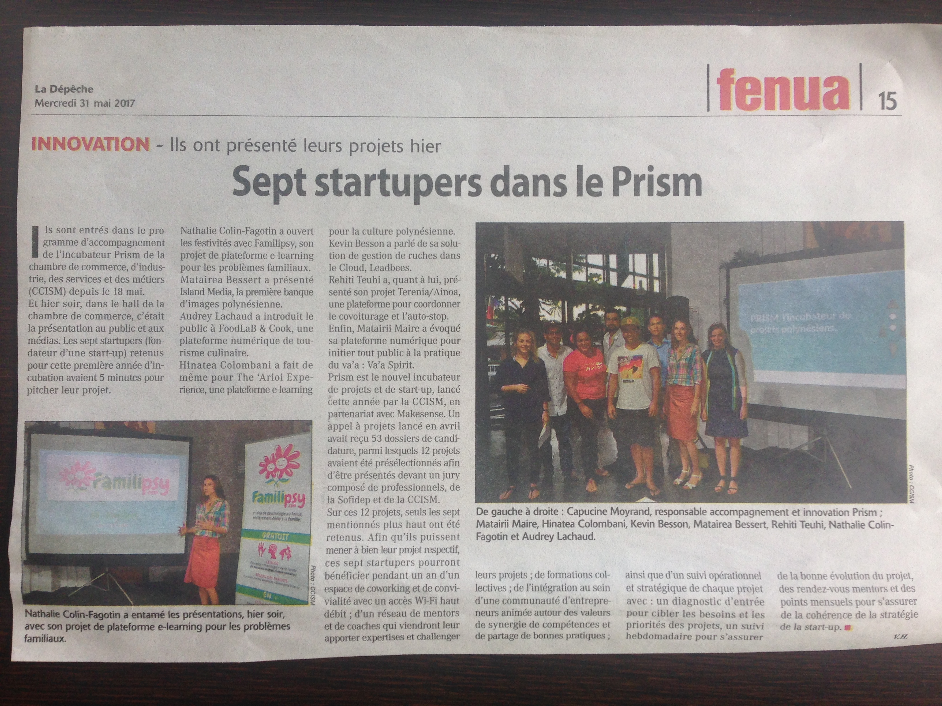 prism CCISM - Rentrée 2017 - Start-up