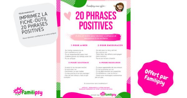 20 phrases positives pour donner confiance à votre enfant